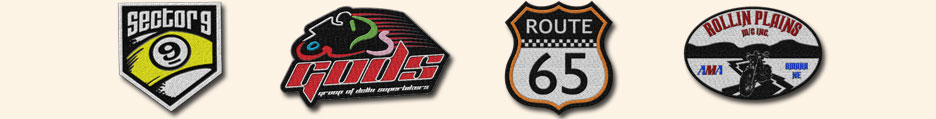 Custom Motorcycle Biker Patches