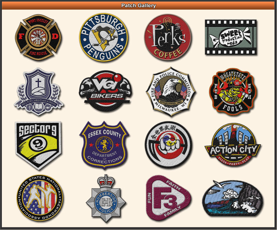 Patch Junction - Custom Patch Gallery - Custom Made Military Patches Biker Patches Civil ...